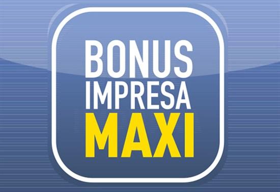 bonus impresa maxi